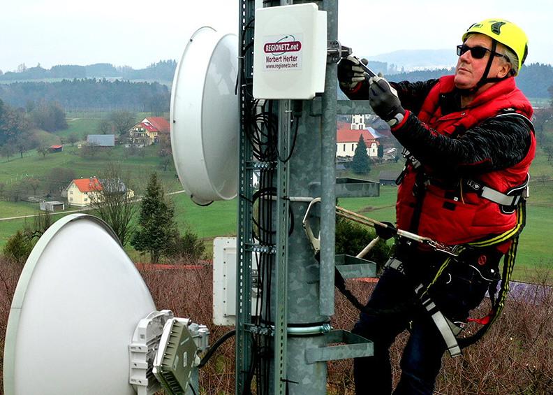 Mit Glasfaser und Funk für die Zukunft gewappnet